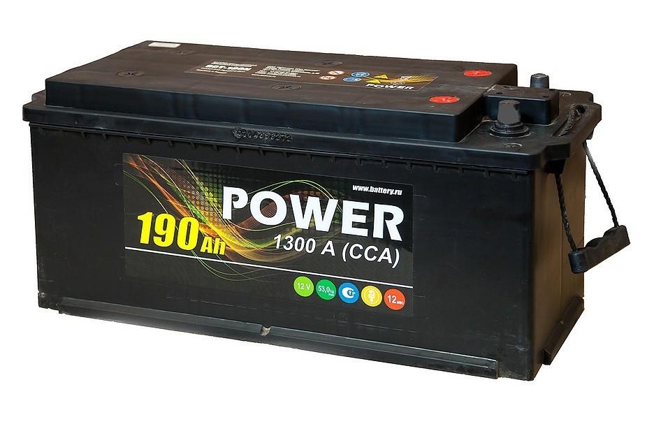 Аккумулятор 6СТ-190 N POWER конус