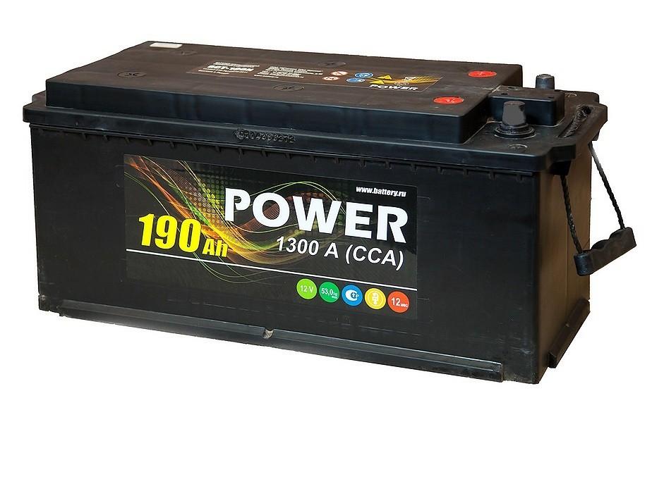 Аккумулятор 6СТ-190 NR POWER конус