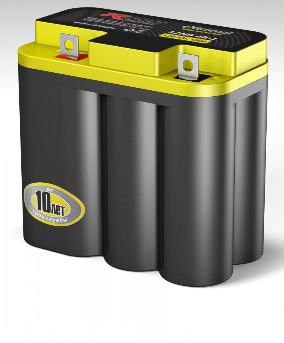 Аккумулятор мото R-DRIVE eXtremal 12N9-3B-1 9a/h e 160A болт