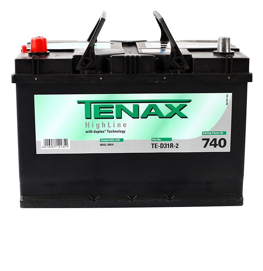 Аккумулятор TENAX HIGH 91 А/ч п.п. TE-D31R-2 выс.