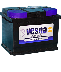 Аккумулятор VESNA 66 А/ч +L п.п. (570А)