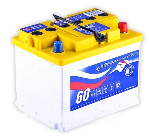 Аккумуляторная батарея 6СТ-60N Подольские аккумуляторы