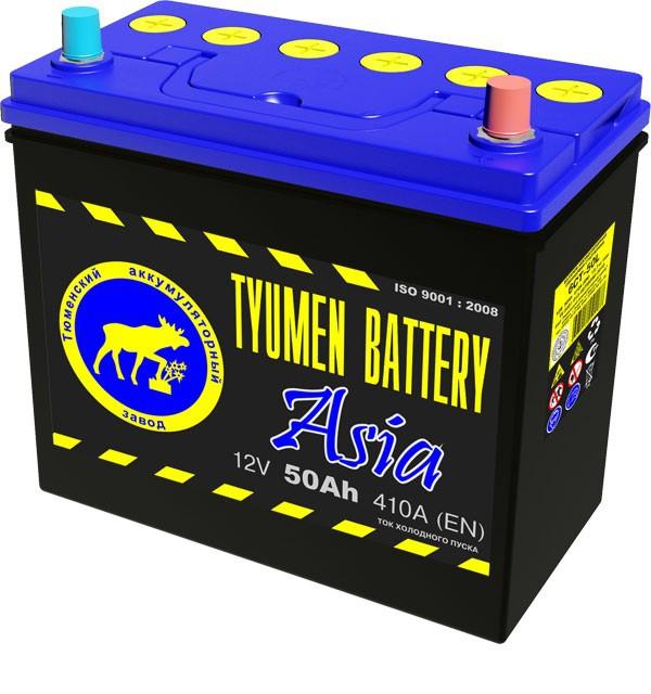Аккумулятор Тюмень 50L О.П. (евро) ASIA