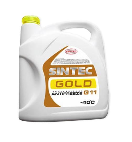 Антифриз SINTEC GOLD (желтый)  G11, 5 кг